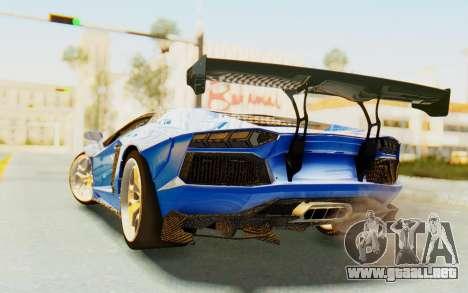 Lamborghini Aventador LP700-4 LB Walk Fenders para la visión correcta GTA San Andreas
