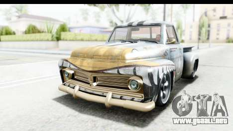 GTA 5 Vapid Slamvan Custom IVF para GTA San Andreas interior
