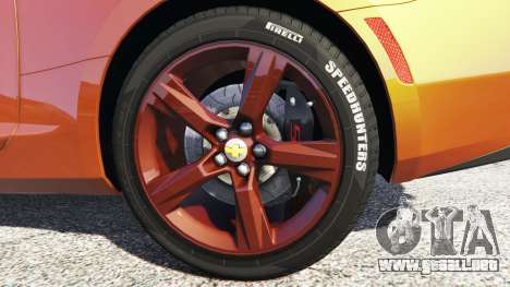 Chevrolet Camaro SS 2016 v2.0 para GTA 5