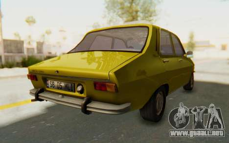 Dacia 1300 Stock para GTA San Andreas vista posterior izquierda