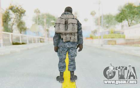 COD BO Russian Soldier Winter Balaclava para GTA San Andreas tercera pantalla