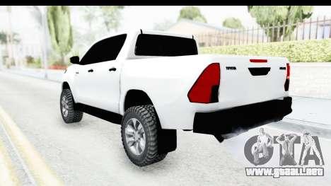 Toyota Hilux 2016 para GTA San Andreas left