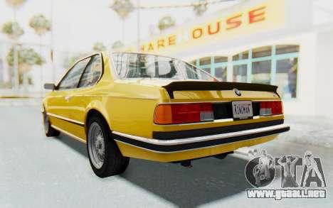 BMW M635 CSi (E24) 1984 HQLM PJ2 para la visión correcta GTA San Andreas