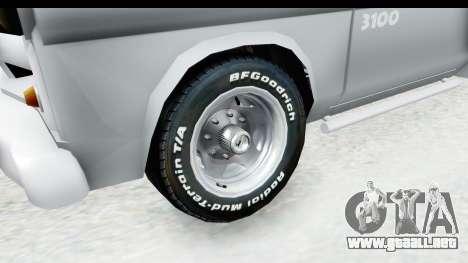 Chevrolet 3100 Diesel v1 para GTA San Andreas vista hacia atrás