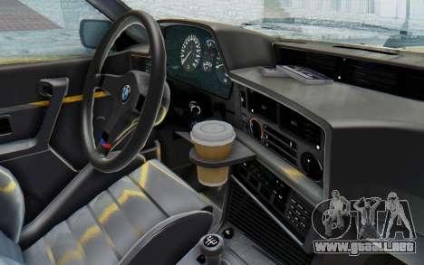 BMW M635 CSi (E24) 1984 HQLM PJ2 para visión interna GTA San Andreas