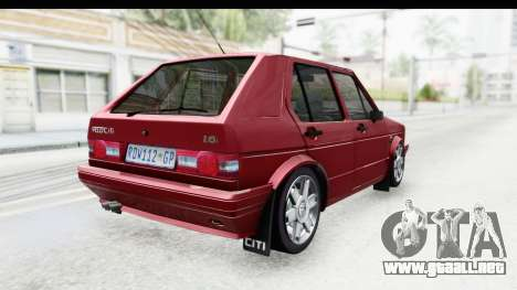 Volkswagen Golf VeloCiti 2008 Updated para GTA San Andreas left