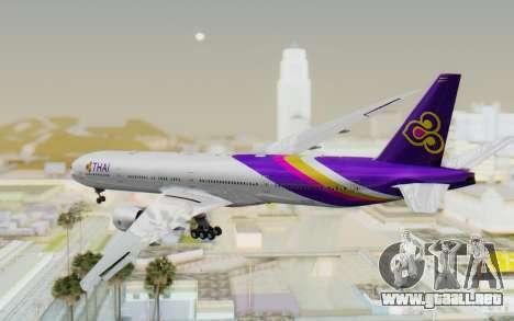 Boeing 777-300ER Thai International Airways para GTA San Andreas left