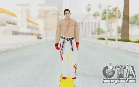 Kazuya Mishima Skin para GTA San Andreas segunda pantalla