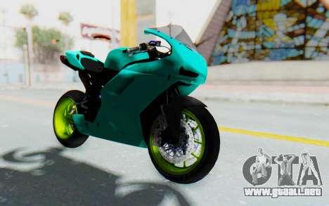 Ducati 1098R Streetrace para la visión correcta GTA San Andreas