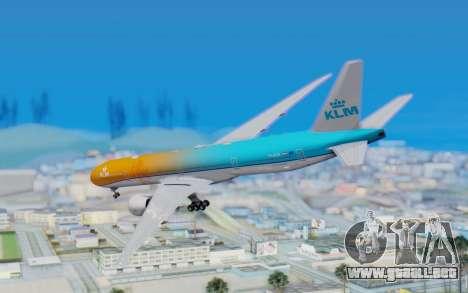Boeing 777-300ER KLM - Royal Dutch Airlines v4 para GTA San Andreas left