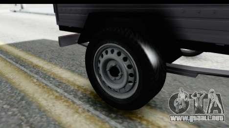 Volkswagen T4 Trailer para GTA San Andreas vista hacia atrás