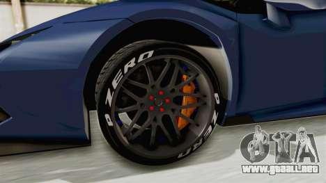 Lamborghini Huracan Stance Style para GTA San Andreas vista hacia atrás