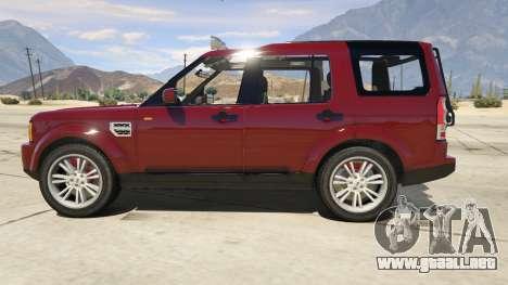 GTA 5 Land Rover Discovery 4 vista lateral izquierda