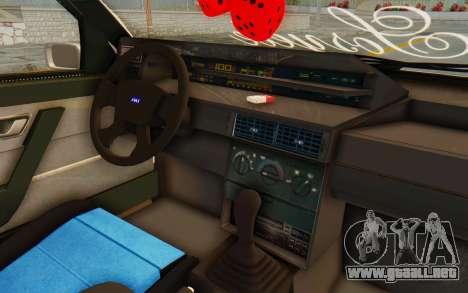 Fiat Tempra Special TR para visión interna GTA San Andreas