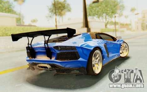 Lamborghini Aventador LP700-4 LB Walk Fenders para GTA San Andreas left