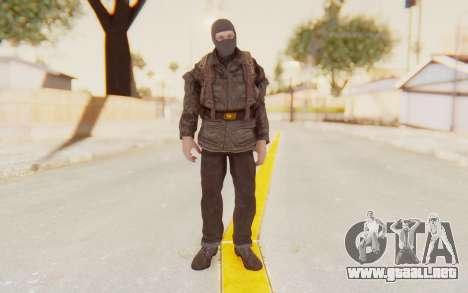 COD BO Russian Soldier Balaclava para GTA San Andreas segunda pantalla
