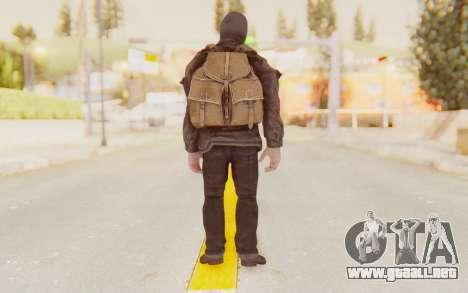 COD BO Russian Soldier Balaclava para GTA San Andreas tercera pantalla