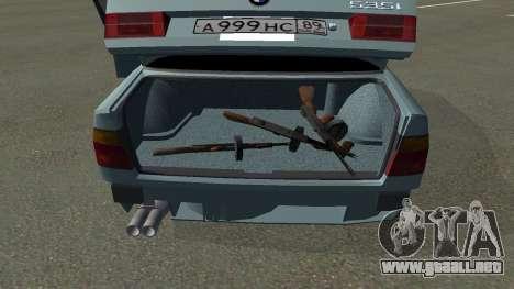 BMW 535i Gang para GTA San Andreas vista posterior izquierda