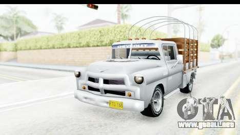 Chevrolet 3100 Diesel v1 para la visión correcta GTA San Andreas