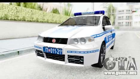 Fiat Punto Mk2 Policija para la visión correcta GTA San Andreas