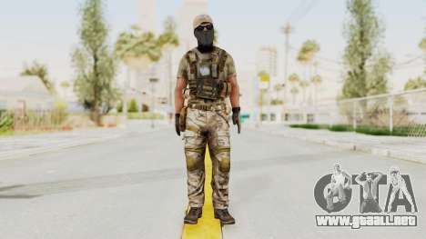 MOH Warfighter Grom Specops para GTA San Andreas segunda pantalla