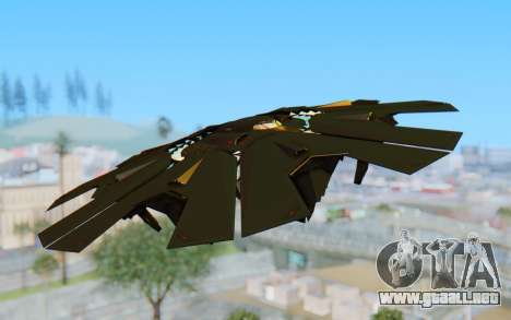 GTA 5 UFO B-2 Style para GTA San Andreas vista posterior izquierda