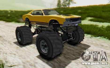 Declasse Sabre Turbo XL para la visión correcta GTA San Andreas