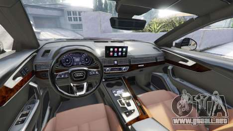 GTA 5 Audi A4 2017 [add-on] v1.1 delantero derecho vista lateral