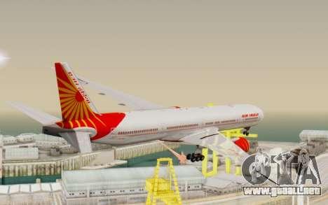 Boeing 777-300ER India Air para la visión correcta GTA San Andreas