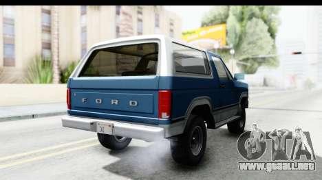 Ford Bronco 1980 para la visión correcta GTA San Andreas