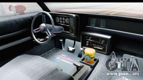Chevrolet Monte Carlo Breaking Bad para visión interna GTA San Andreas