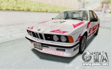 BMW M635 CSi (E24) 1984 HQLM PJ2 para GTA San Andreas