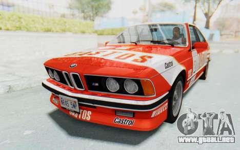 BMW M635 CSi (E24) 1984 HQLM PJ3 para visión interna GTA San Andreas