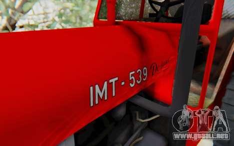 IMT 539 Deluxe para GTA San Andreas vista hacia atrás