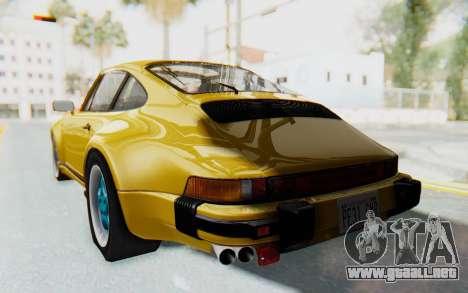Porsche 911 Turbo 3.2 Coupe (930) 1985 para GTA San Andreas left