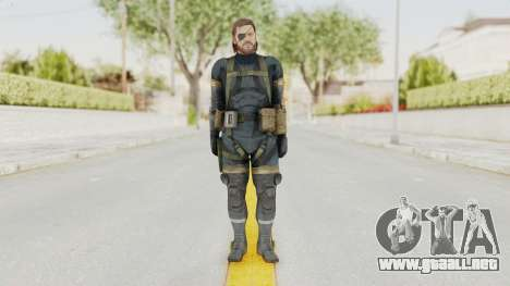 MGSV Phantom Pain Big Boss SV Sneaking Suit v2 para GTA San Andreas segunda pantalla