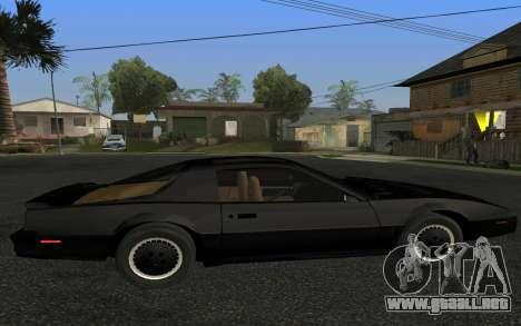 K.I.T.T. 2000 Pilot para GTA San Andreas left