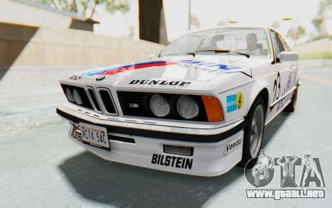 BMW M635 CSi (E24) 1984 HQLM PJ1 para el motor de GTA San Andreas