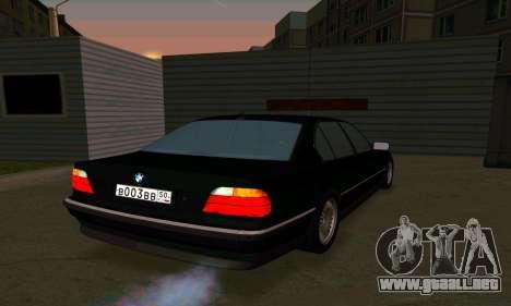 BMW 740i E38 para la visión correcta GTA San Andreas