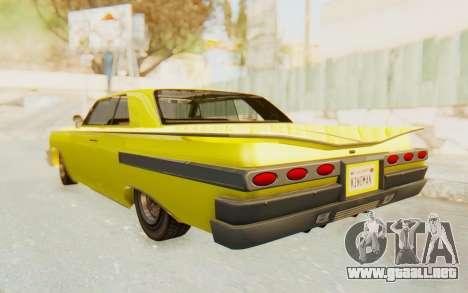 GTA 5 Declasse Voodoo para GTA San Andreas vista posterior izquierda