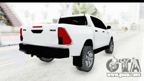 Toyota Hilux 2016 para la visión correcta GTA San Andreas