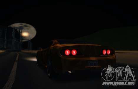 Camo. para GTA San Andreas vista posterior izquierda
