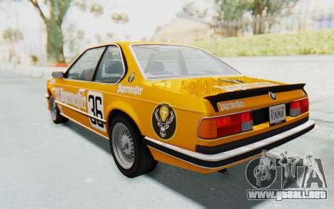 BMW M635 CSi (E24) 1984 HQLM PJ3 para el motor de GTA San Andreas