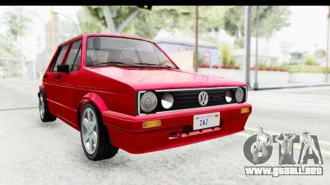 Volkswagen Golf Citi 1.8 1998 para la visión correcta GTA San Andreas