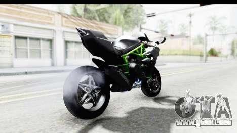 Kawasaki Ninja H2R Black para GTA San Andreas vista posterior izquierda