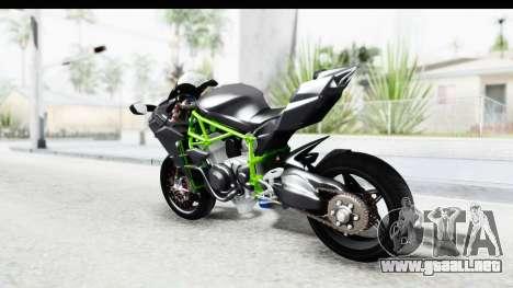 Kawasaki Ninja H2R Black para GTA San Andreas left