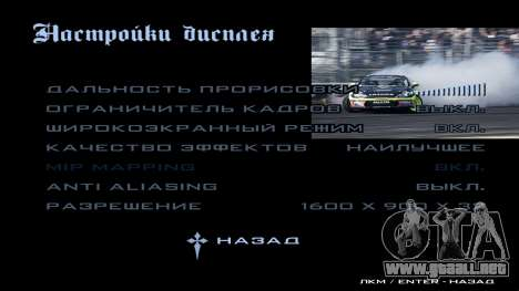 New menu para GTA San Andreas undécima de pantalla
