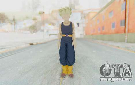 Dragon Ball Xenoverse Future Trunks Shirt SSJ para GTA San Andreas segunda pantalla