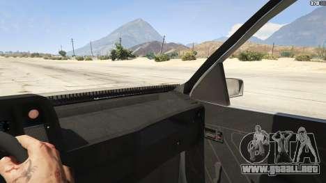 GTA 5 Chevrolet Kadett SL 2.0 Lowered vista lateral trasera derecha