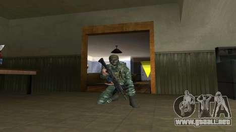 El aire de soldado en el camuflaje de abedul para GTA San Andreas tercera pantalla